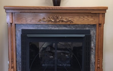 Buck Stove Fireplace with Standard Mantle